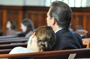 Mark and his daughter, Maggie, at my ordination
